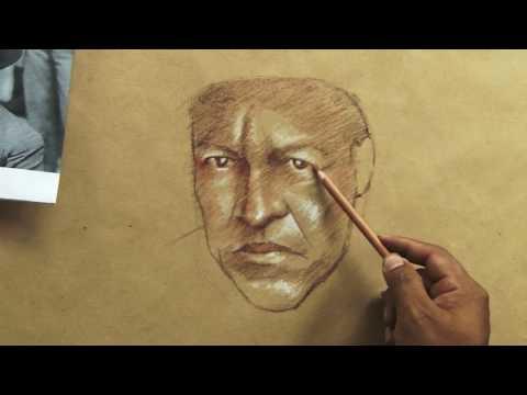 Dibujo en honor a Augusto César Sandino