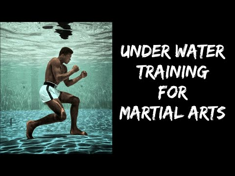 We tried practicing martial arts under water resistance