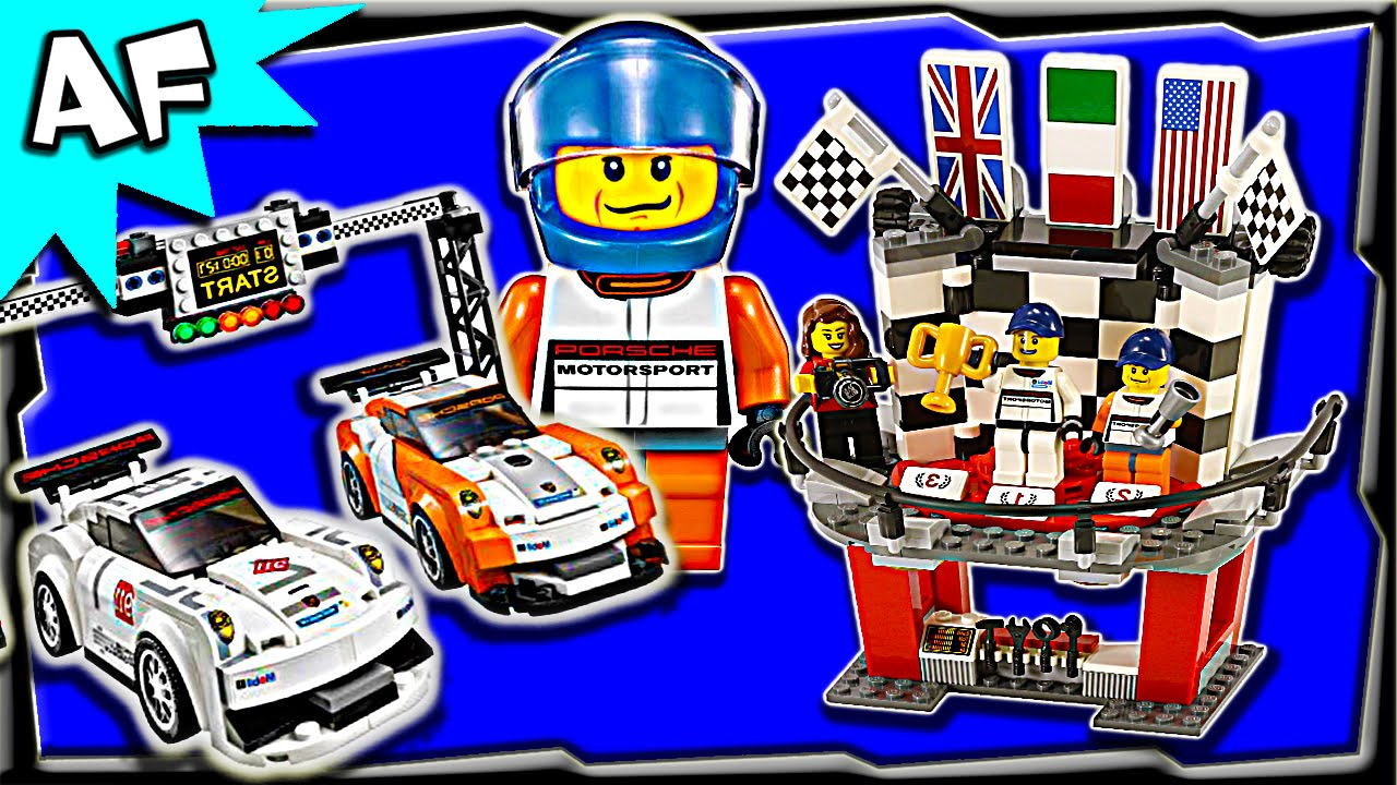lego speed champions porsche 911 gt finish line 75912 stop motion build review youtube. Black Bedroom Furniture Sets. Home Design Ideas