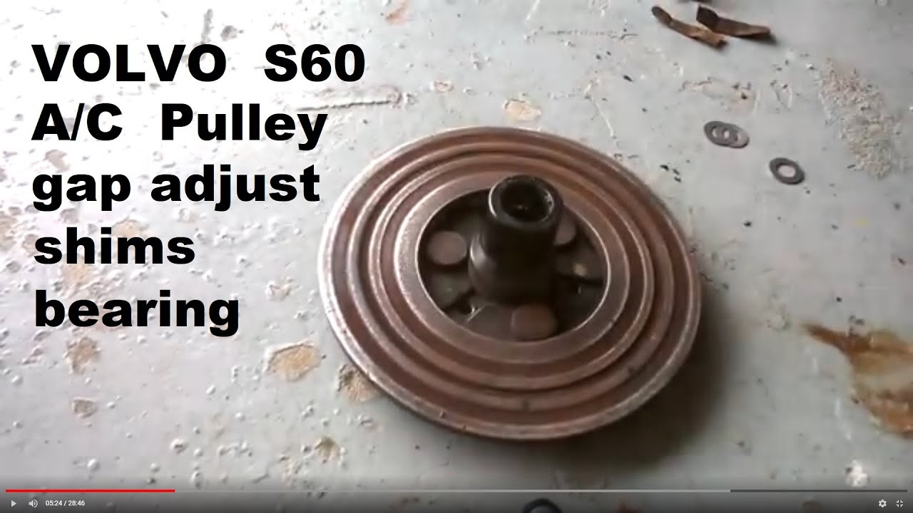 A C Compressor Pulley And Clutch Repair Volvo Other Brands Youtube 850 Ac