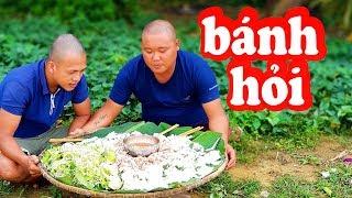 Ẩm Thực Làm Nia Bánh Hỏi Thịt Heo | TEAM ĐẦU TRỌC | Sơn Dược Vlogs #46