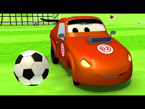 The Car Patrol Fire Truck and Police Car : Tyler cheats at Foot Soccer in Car City ⚽ Trucks cartoon
