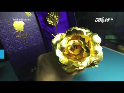 (VTC14)_Hoang mang vì hoa hồng dát vàng 24k giá rẻ