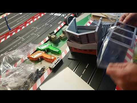 Carrera slot car guy builds a Scalextric slot car pit box challenge