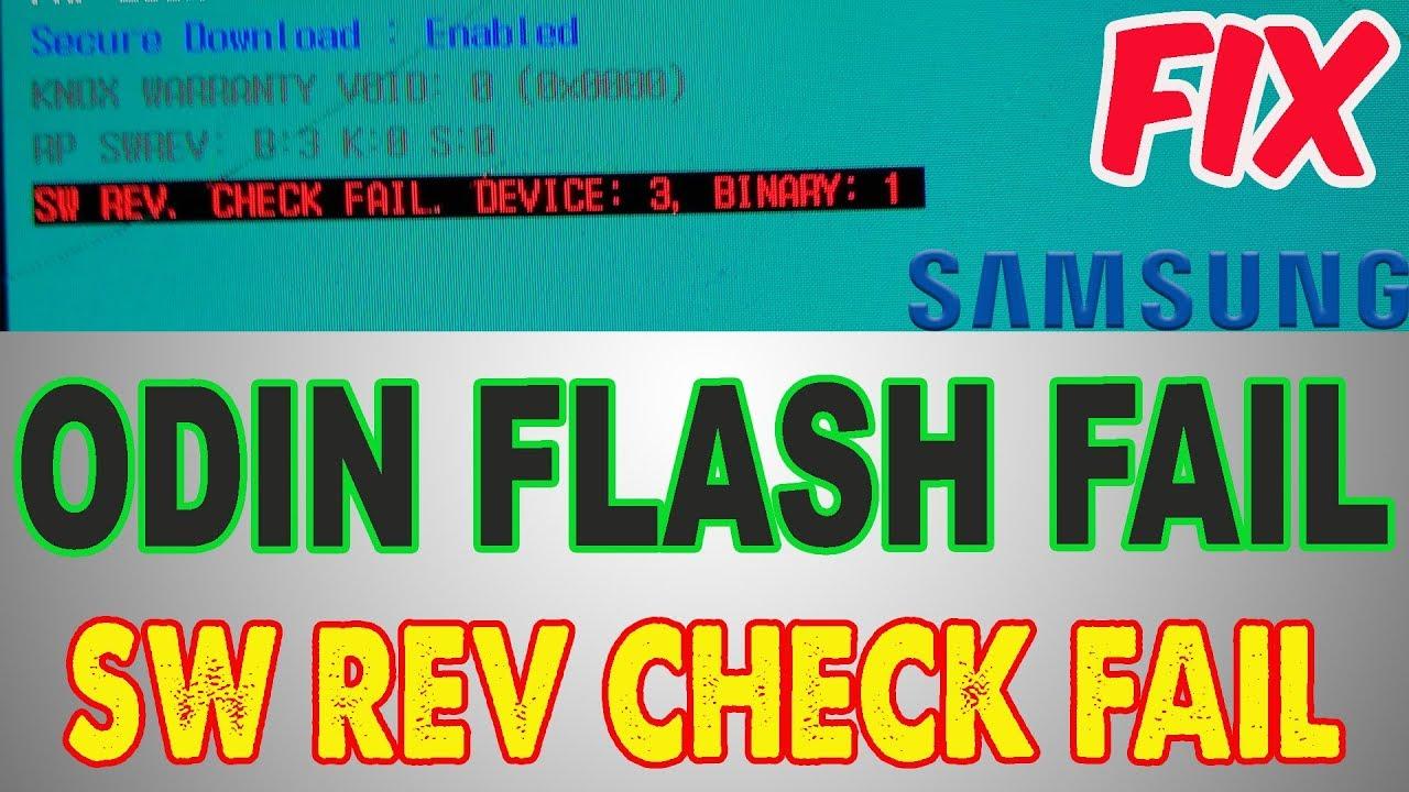 HOW TO FIX SW REV CHECK FAIL BINARY 1