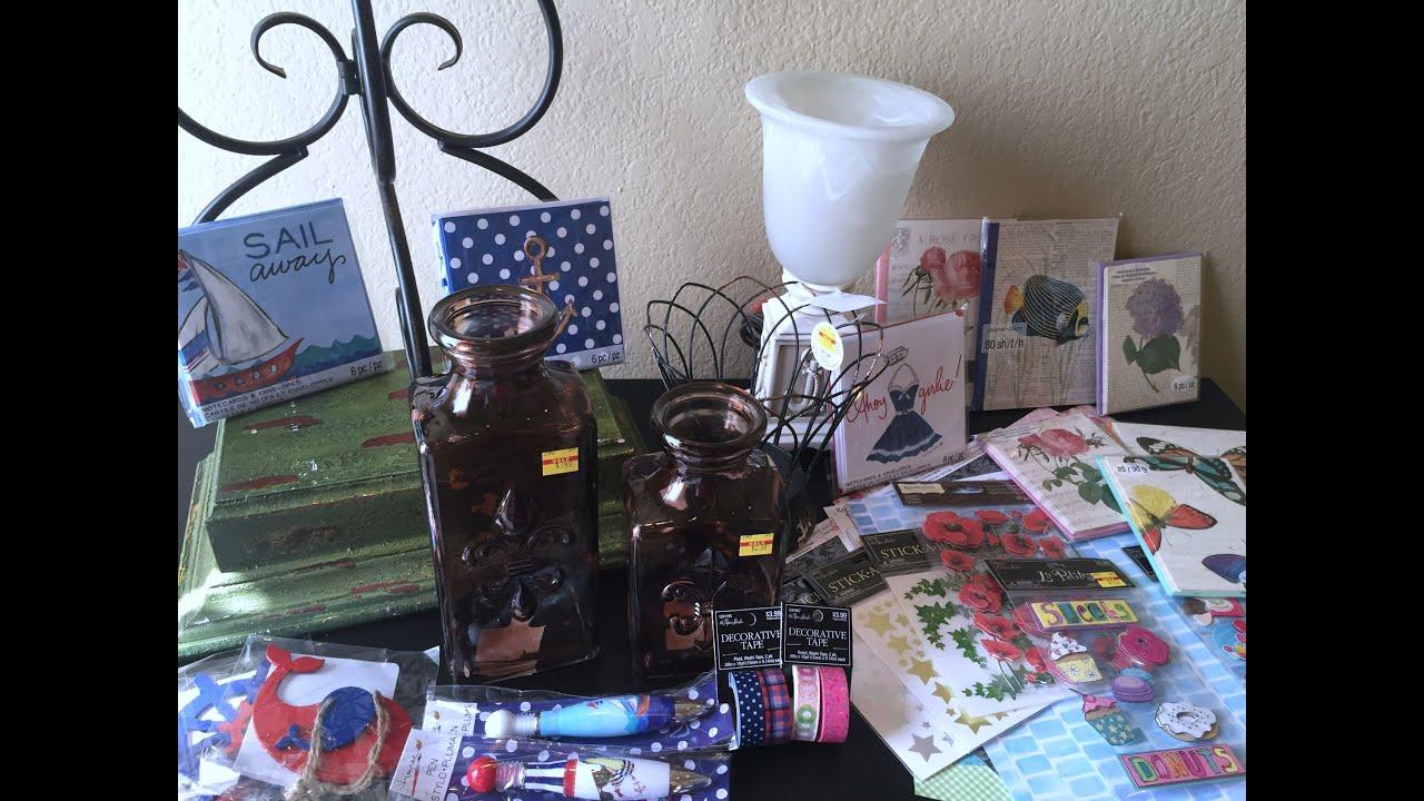 Hobby lobby michaels haul home decor planner Michaels home decor