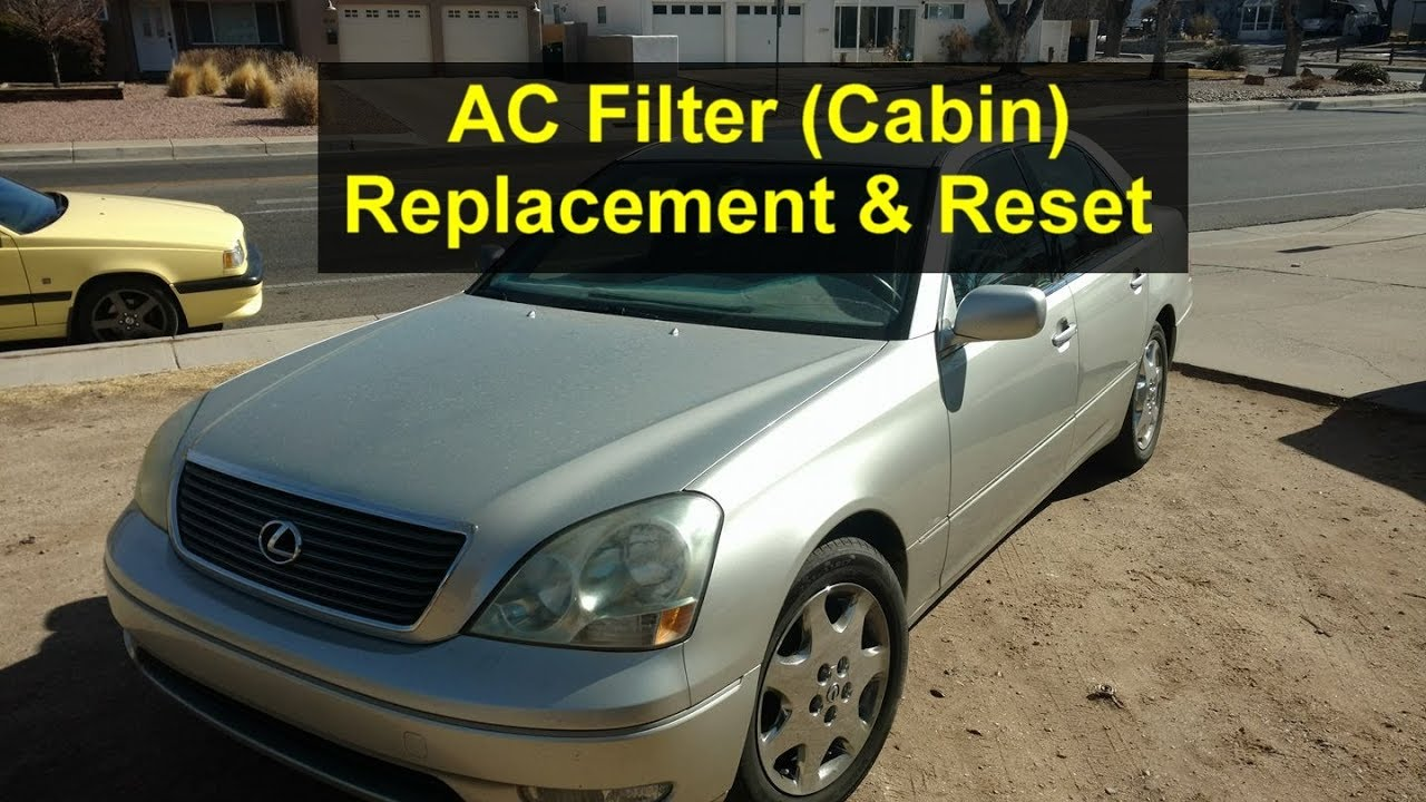 How To Replace The Ac Filter Cabin And Reset Warning Message 2005 Lexus Rx330 Oil 430 300 Etc Votd
