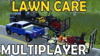 Farming Simulator 17 Lawn Care - Multiplayer - Landscape Truck - Exmarks
