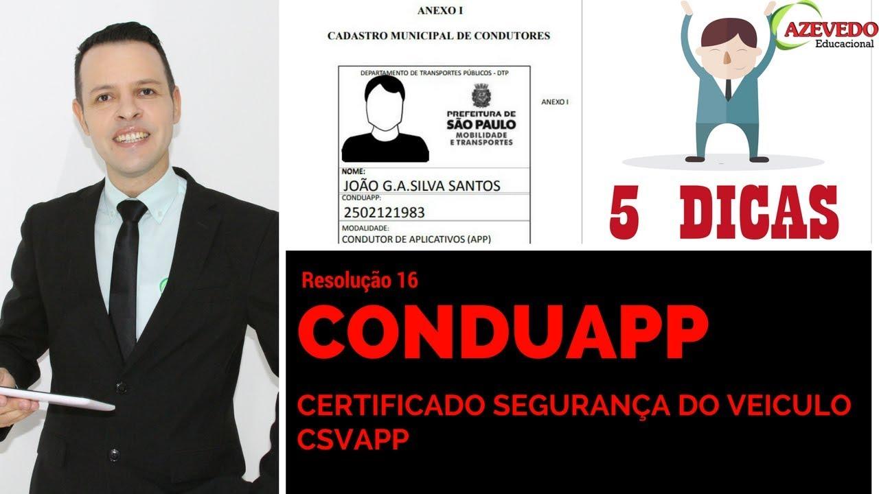 5 dicas como tirar seu CSVAPP l Conduapp l Documentação do Veiculo l ...