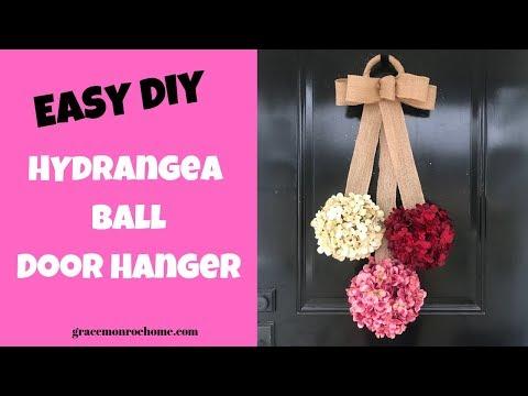 Easy Flower Hydrangea Ball - DIY Hydrangea Door Hanger