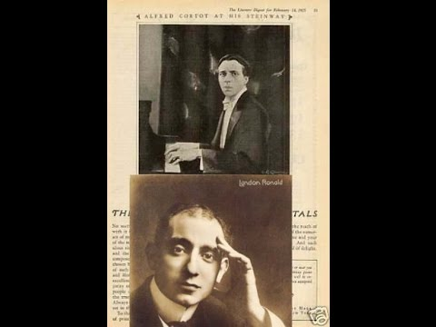 Robert Schumann:Piano Concerto-Alfred Cortot  w/Sir Landon Ronald & LSO{MX CR 1398-1405}