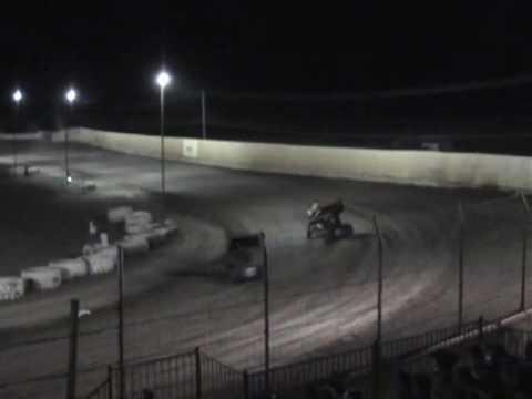 Jason Statler & Kyle Larson Front Row - Marysville Raceway Park