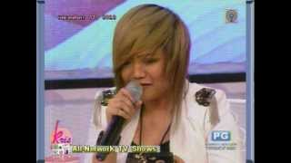 Charice @ Kris TV singing PUSONG BATO