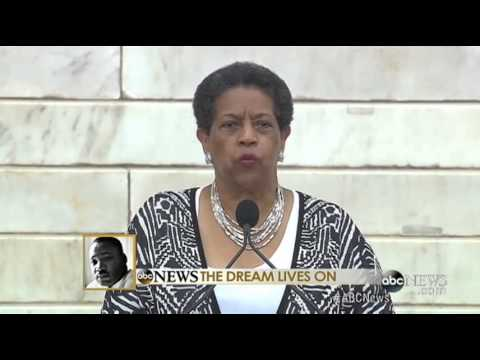 Myrlie Evers-Williams at March on Washington Anniversary: