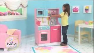 Girls Compact Wooden Toy Play Kitchen For Kids Kidkraft 53250
