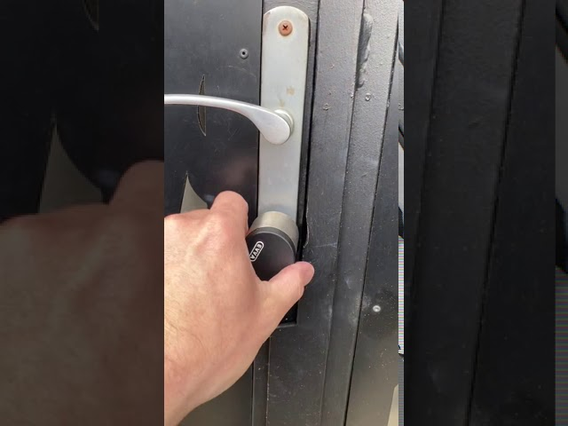 EVVA Air Key Euro Cylinder Installation Melbourne Australia -Human Key Locksmiths
