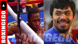 ADRIEN BRONER GETS KNOCKED OUT BY MANNY PACQUIAO SAYS PACQUIAO S&C COACH FORTUNE | BOXINGEGO