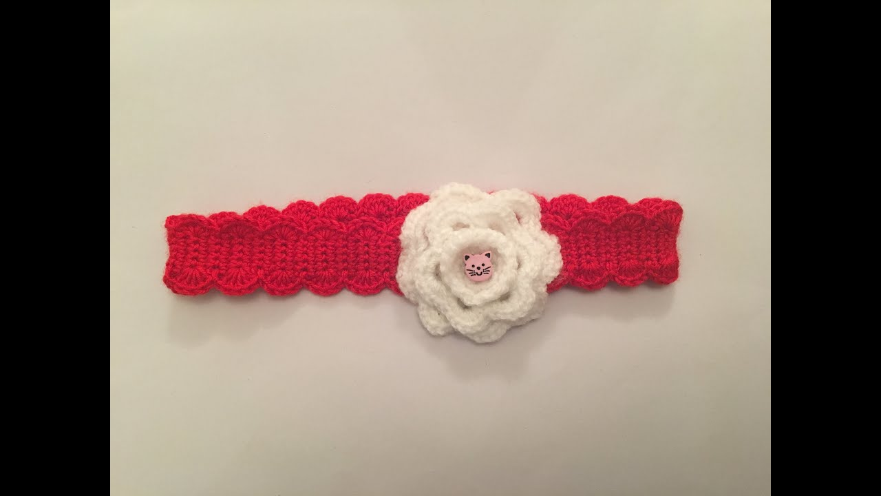 How To Crochet Easy Headband For Baby And A Girl Youtube