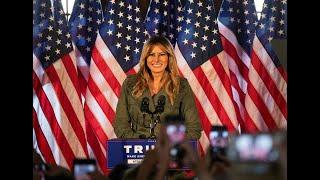 Melania Trump rechnet mit Joe Biden ab – ein Zwischenruf bringt den Saal zum Lachen
