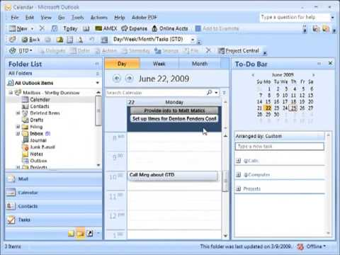 Getting Things Done Outlook Add-In Best Practices | Setting Up For Success  | Calendar Configuration
