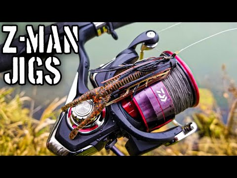 Bass Fishing With Z-Man Finesse Jigs And TRD Hogz (Jig Fishing For Beginners!)