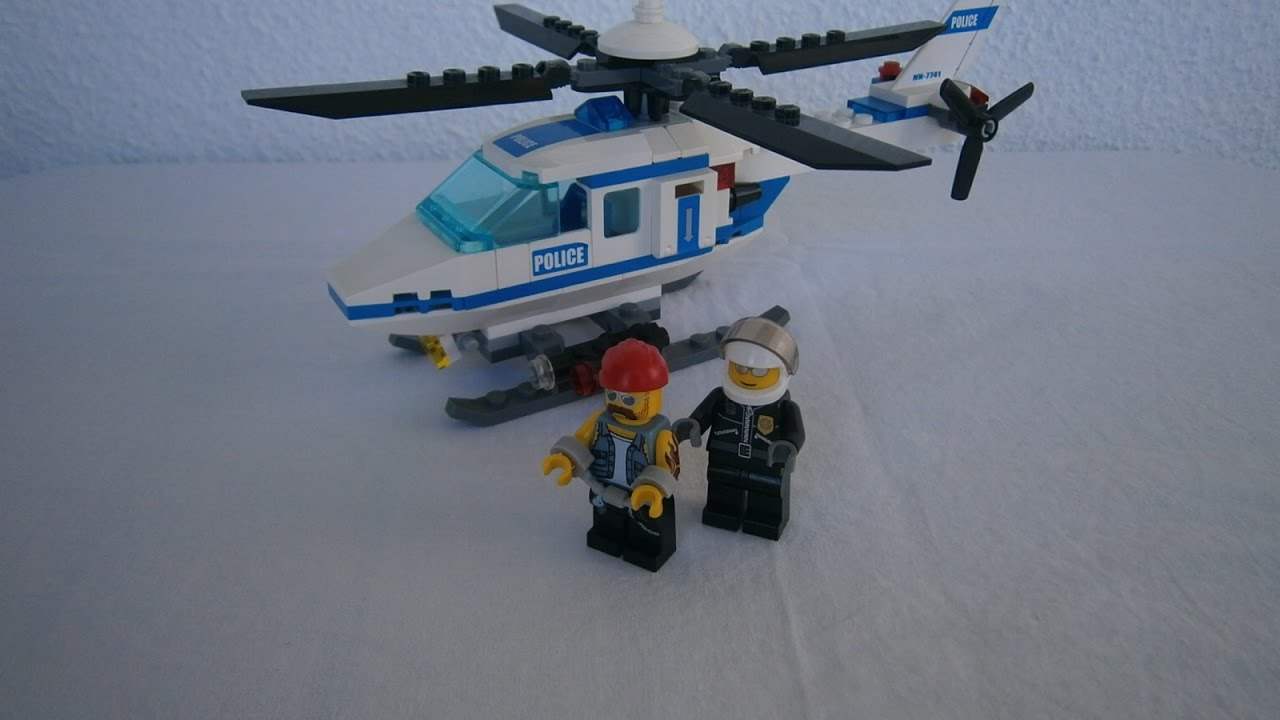 lego city police helicopter set 7741 amp extra minifigure