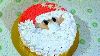 Новогодний торт Дед Мороз Новогодние Кремовые торты  cake Santa Claus