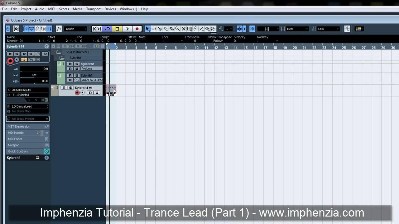 cubase trance lead tutorial sylenth1 part 1 by imphenzia youtube rh youtube com