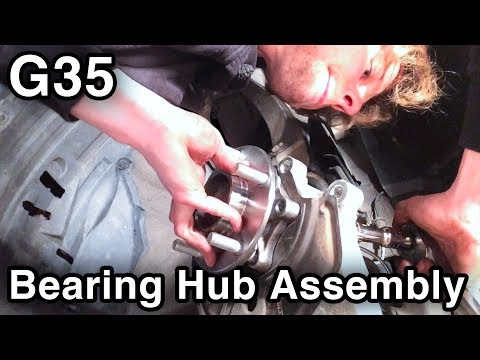 Wheel Bearing & Hub Replacement **With Torque Specs** [Infiniti G35/Nissan 350Z]