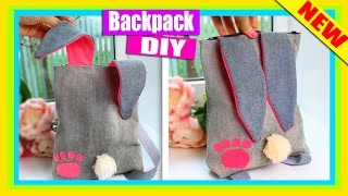 DIY BACKPACK NO SEW Tutorial | Easy Old Jeans Transform | Hare
