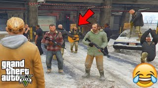 GTA 5 - What Happens if You DISABLE THE WANTED LEVEL DURING PROLOGUE