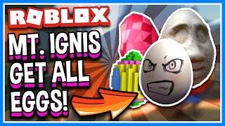 MOUNT IGNIS ALLE EGGS!!! | Wie man jedes Ei | Roblox Egg Hunt 2017 Guide und Geheimnisse