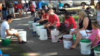 Taste Of Newberry 2012 - Bucket Brigade Practice - Munson Music - Newberry, South Carolina