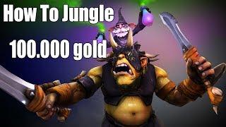 DoTa 2 How To Jungle Alchemist. Challenge 100.000k gold