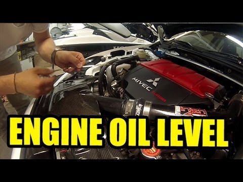 Checking Engine Oil Level Youtube