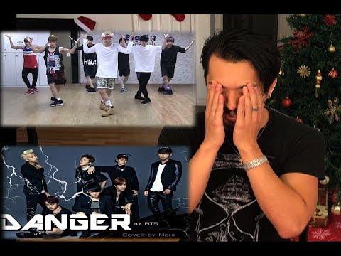 BTS - DANGER [ DANCE PRACTICE ] REACTION WTF!!!!!!