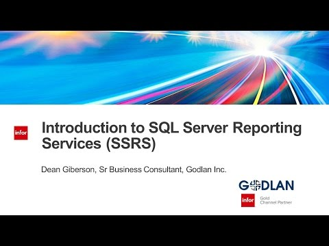 Manufacturing Performance Webinar Introduction to SSRS SQL S