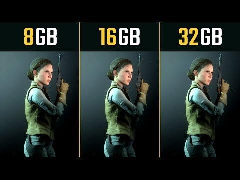 8GB RAM Vs. 16GB RAM Vs. 32GB RAM (5 Games)
