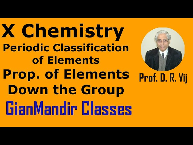 X Chemistry | Periodic Classification of Elements | Prop. of Elements Down the Group by Gaurav Sir