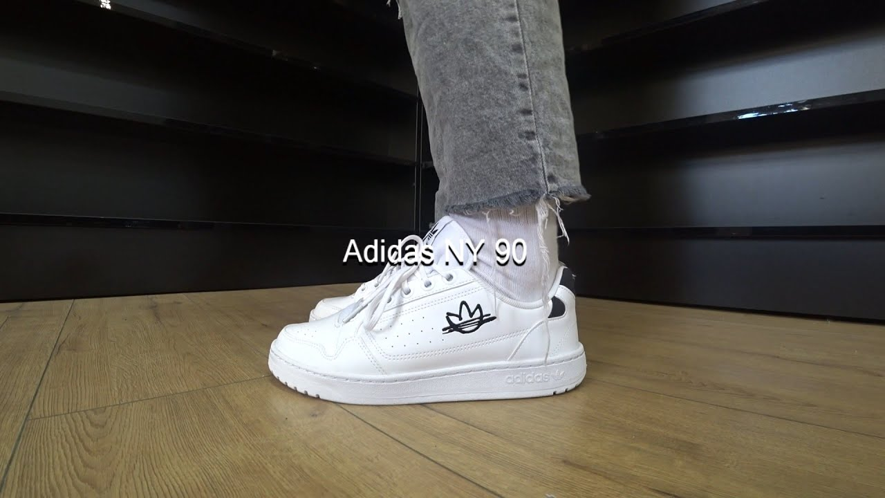 Adidas NY 90 FZ2251 (White) Onfeet Review | sneakers.by