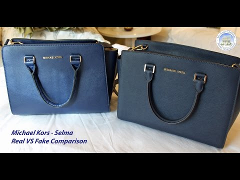 prada black canvas tote bag - Michael Kors Selma - Fake VS Real Comparison - YouTube