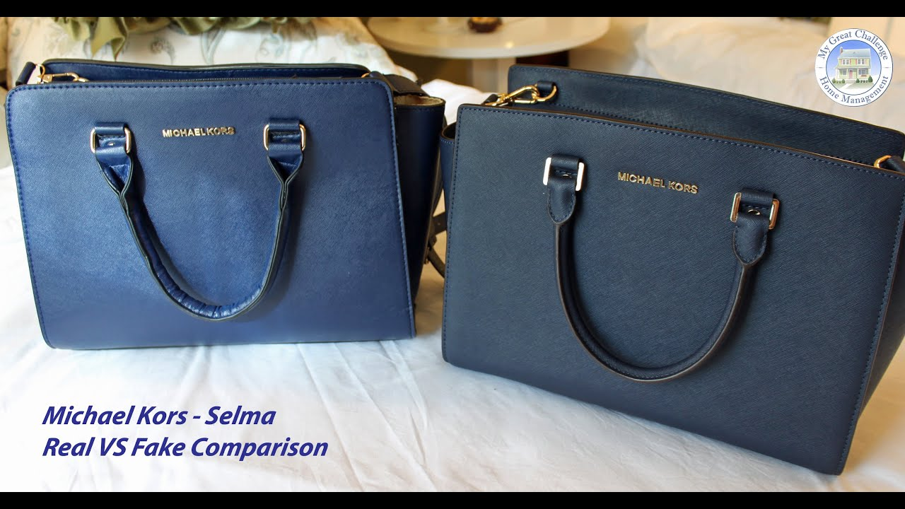 Michael Kors Selma - Fake VS Real Comparison - YouTube 07865286663c9