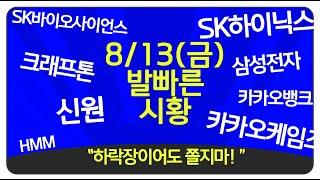 """8월13일(금) """"외국인의 장난질! """"  코스…"""