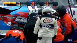 NASCAR Xfinity Series Michigan 2017 Start KyBusch Crashes