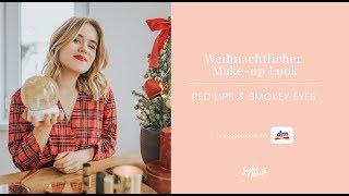 Weihnachtlicher Make-up Look | Beauty Tutorial Red Lips & Smokey Eyes