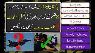 8 WAYS TO JOIN PAKISTAN AIR FORCE AS PILOT ENGINEER