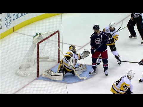 Werenski snaps home his first NHL playoff goal