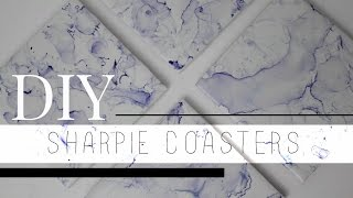 DIY FAUX MARBLE COASTERS (UNDER $20) || Kaitlyn Coskun