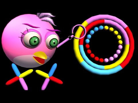 Make COLOR SWITCH with ANGRY BIRDS  ♫  3D animated game mashup  ☺ FunVideoTV - Style ;-)) Pics
