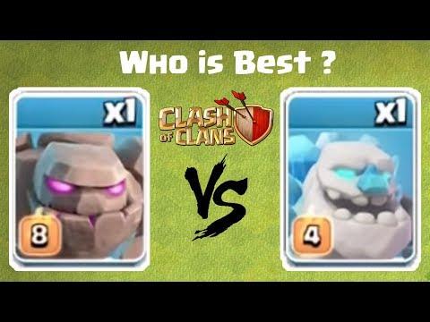 Ice Golem vs Golem | Clash of Clans - COC